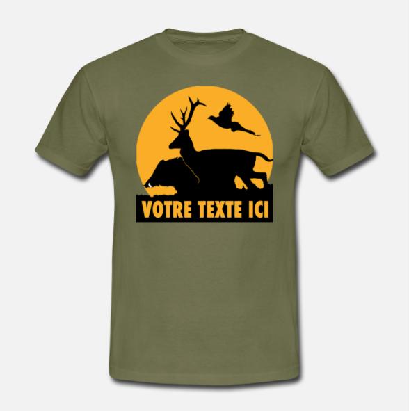 T-shirt personnalisable avec votre texte