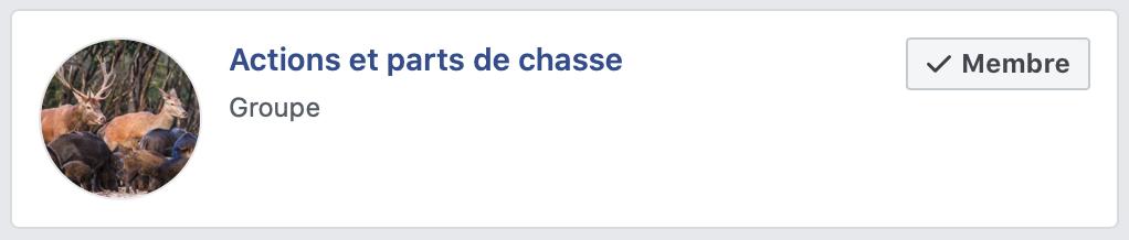 Chasse : partenariat publicitaire groupe facebook